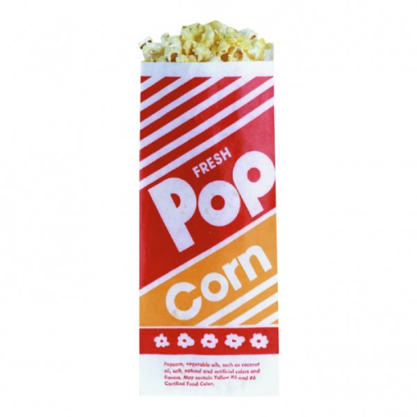 "12"" POPCORN BAG COMES PACKED 1,000 PER CASE."